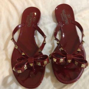 Valentino Garavani Rockstud rubber sandals